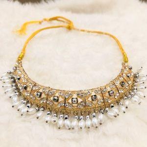 Gold & Diamond Kundan Statement Necklace